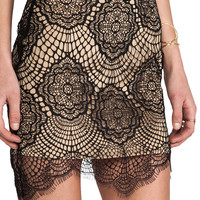 For Love & Lemons Grace Mini Skirt in Black