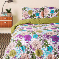 Blooms for Your Room Duvet Cover in Full/Queen | Mod Retro Vintage Decor Accessories | ModCloth.com