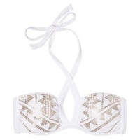 Xhilaration® Junior's Bandeau Swim Top -White