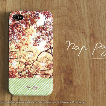 Apple iphone case for iphone iphone 5 iphone 5s iphone 5c iphone 4 iphone 4s iPhone 3Gs : red spring tree