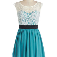 Shortcake Story Dress in Teal