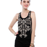 Papaya Clothing Online :: TRIBAL PRINT CHIFFON TOP