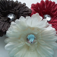 "Easter Hair Flower - 4"" girls hair flower - Accessories - Color Choice - hair flower clip - Photo Prop -Hair Accessory - Girls - Easter"