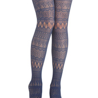 Fun From Within Tights in Blue | Mod Retro Vintage Tights | ModCloth.com