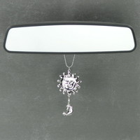 Celestial Sun Car Charm Rearview Mirror Decoration Ganz