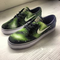 Green Galaxy Janoski