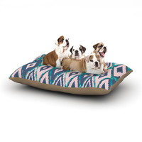"Nika Martinez ""Tribal Ikat"" Blue Pattern Dog Bed"