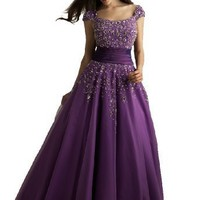 Night Moves Modest Ball Gown Prom Dress