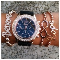 Rose Gold Love Watch Set- Tanya Kara Jewelry
