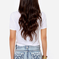 Others Follow Rain Lace Cutoff Jean Shorts