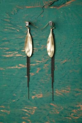 Feather & Chain Earring at Free People Clothing Boutique