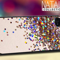 Glitter - iPhone 4/4s/5 Case - Samsung Galaxy S3/S4 Case - Blackberry Z10 Case - Ipod 4/5 Case - Black or White