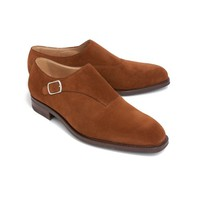 Snuff Suede Bedford Single Buckle Shoe - Ovadia & Sons