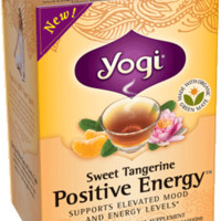 Yogi Tea Sweet Tangerine Positive Energy™ | This harmonizing and aromatic blend is designed to help energize and elevate your mood. An intriguing and delicious blend of Organic Assam Black and Green Maté in combination with Ashwagandha, Shankpushpi and Tul
