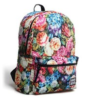 Vintage Flower Garden Printing Canvas Backpack