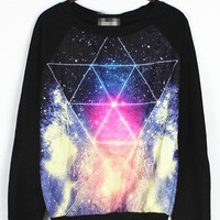 LIGHTING AND TRIANGLE GRAPHIC SWEATSHIRT, 2013 AUTUMN NEW, COUPLES SHIRT, UNISEX ONE SIZE