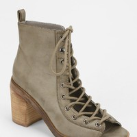 Deena & Ozzy Peep-Toe Lace-Up Boot - Urban Outfitters