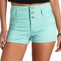 REFUGE COLORED HIGH-WAISTED SHORTS
