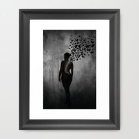 The Butterfly Transformation Framed Art Print by Nicklas Gustafsson