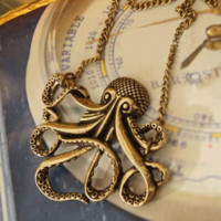 Vintage Octopus Fashion Necklace