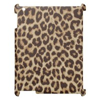 Leopard Print Fabric iPad Cover