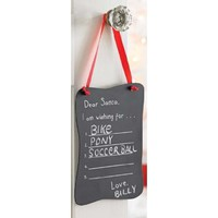 Mud Pie Dear Santa Chalkboard Door Hanger Ornament