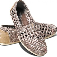 TOMS+ Taupe Pink Women's Crochet Classics