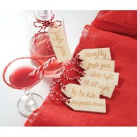 Mudpie Christmas Holiday Beverage Tag Set of 6