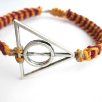 Gryffindor Bracelet Harry Potter Deathly Hallows Hemp Bracelet