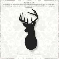 Deer Mount Silhouette Country || Vinyl Sticker Decal