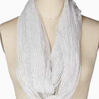 OPEN STITCH LUREX ETERNITY SCARF