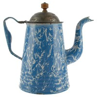 Antique Blue Coffee Pot