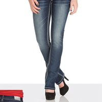 Maurices Premium Dark Wash Embellished Flap Pocket Jeans