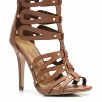 No Tears Strappy Cut-Out Heels