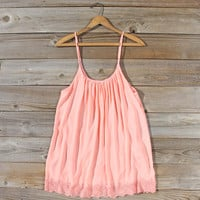 Solarium Lace Tunic in Peach