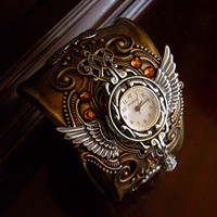 Steampunk Cuff Bracelet 4 by *Aranwen on deviantART