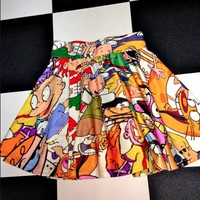 SWEET LORD O'MIGHTY! MA FAV CARTOON SK8R SKIRT