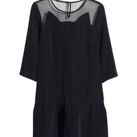 H&M - Flounce Dress - Black - Ladies