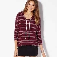 AE EFFORTLESSLY CHIC STRIPED HOODIE
