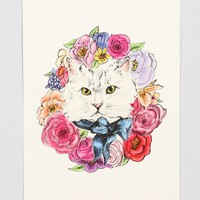 Evie Kemp Kitty Wreath Art Print - Urban Outfitters