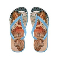 Vintage Retro Art Nouveau Mucha 5 Flip Flops> Flip Flops> Beautiful Homes