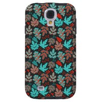 Winter Leaves Pattern Samsung Galaxy S4 Cover