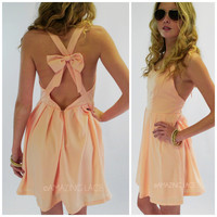 Deerfield Pink Cross Back Summer Dress