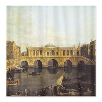 Venice - Grand Canal with Imaginary Rialto Bridge> Shower Curtains> Beautiful Homes