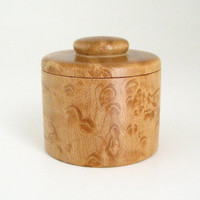 Tiny Wood Burl Box