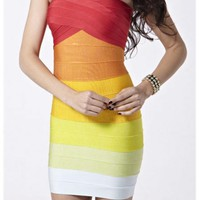 Style Boutique ombre tube bandage dress