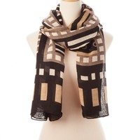 Black Multi Savoy Tie All Scarf - Scarves - Shop | Theodora & Callum
