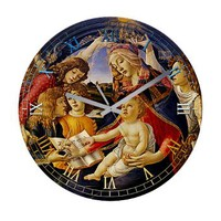 Madonna of the Magnificat Frameless Wall Clock> Clocks> Beautiful Homes