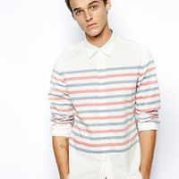 Dockers Alpha Shirt Slim Fit Horizontal Stripe