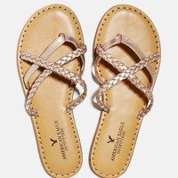 AEO STRAPPY BRAIDED SANDAL